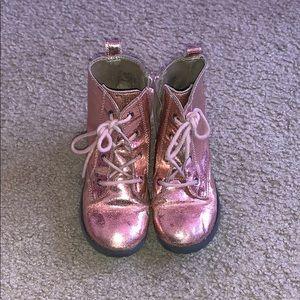 Toddler Girls Gap Pink Glitter Boots. Size 11.